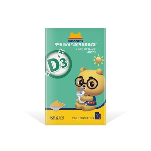 美卡熊蘑菇复合口膜片(维生素D3)